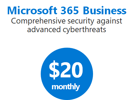 Microsoft 365 Business cost